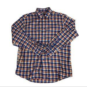Jos A Bank shirt Button Down checkered long sz L